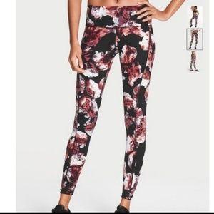 Victoria secret knockout floral black legging full